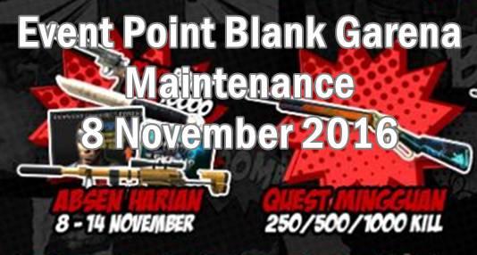Event PB Maintenance 8 November 2016 Spesial Hari Pahlawan
