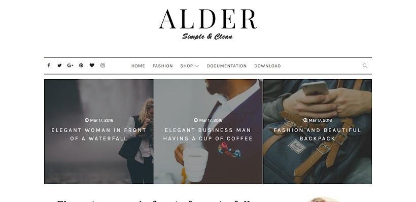 Alder Free Blogger Template