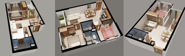 thiết kế căn hộ điển hình của căn hộ Lotus Apartment thủ đức