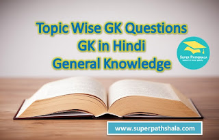Topic Wise GK Questions | GK in Hindi | General Knowledge