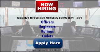 Jobs hiring Crew For Offshore Vessels DP1 / DP2