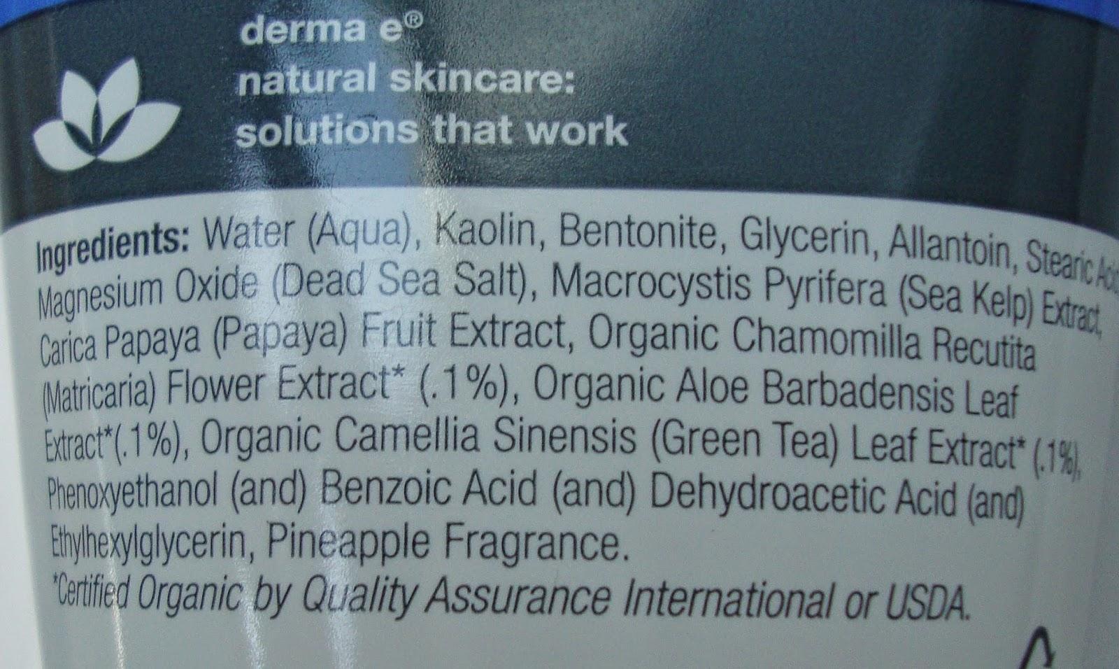 Derma E Exfoliating Mask состав