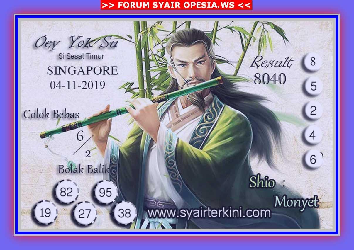 Kode syair Singapore Senin 4 November 2019 46