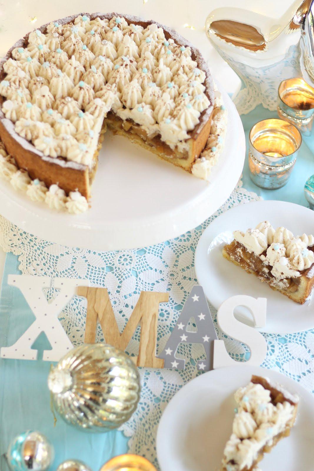 Winterliche Zimt-Apfel-Torte mit Sahne - Rezept und Video von Sugarprincess | SCCC 2019: 1. Türchen | Gewinnspiel