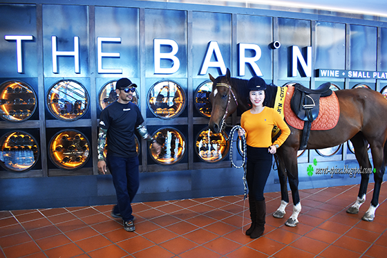 Horsing around in The Barn at Citta Mall, Ara Damansara