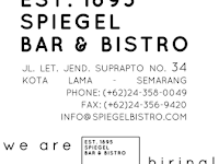 Lowongan Kerja di PT. Spiegel Nusa Archindo - Semarang (HR & GA, Bartender, Waiter/ss, Cleaning Service)