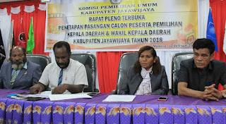 KPU Jayawijaya Tetapkan Paslon Tunggal