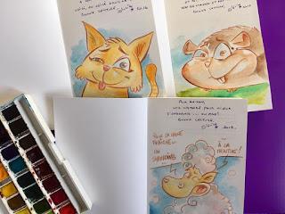 Autres livres, autres dédicaces... Avec le dernier né de Saperlivpopette: La Peau de chagrin ! ©Guillaume Néel