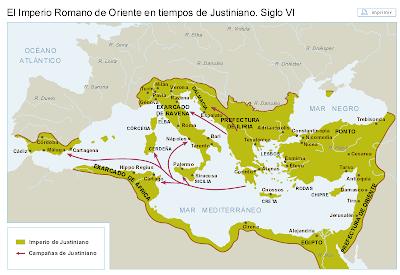 Resultado de imagen de imperio de justiniano