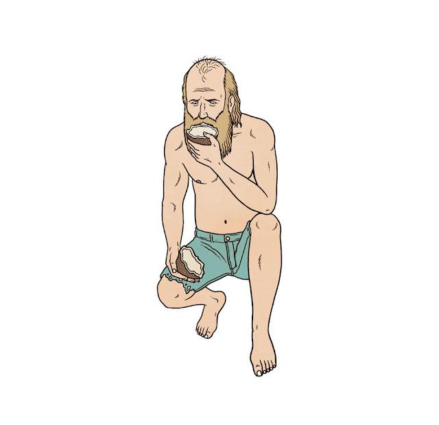 ilustracion comer coco