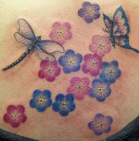 Cool and Beautiful 3D Dragonfly Tattoo | Tattoos Photo Gallery - photo#11