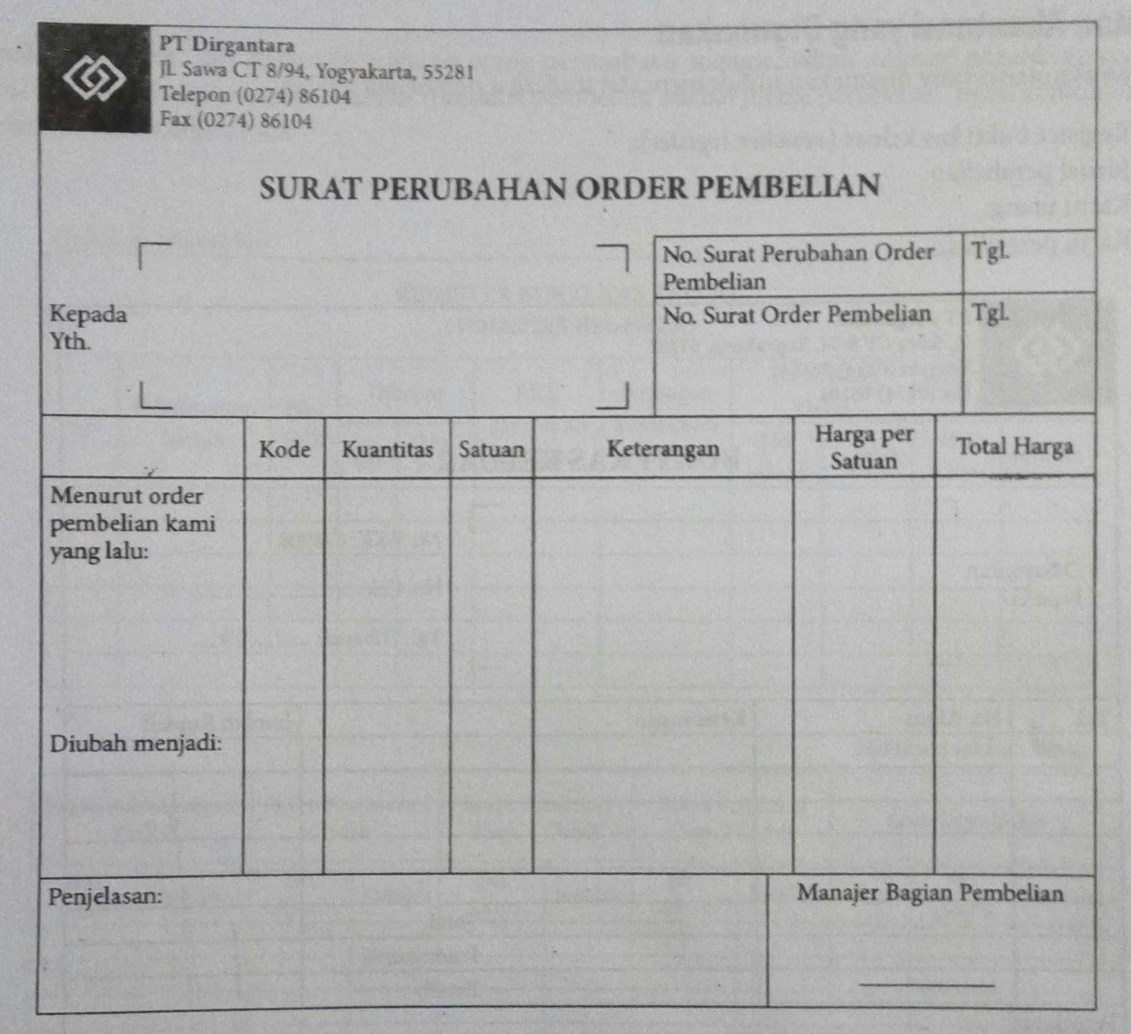 Surat Order Pembelian Suratmenyuratnet