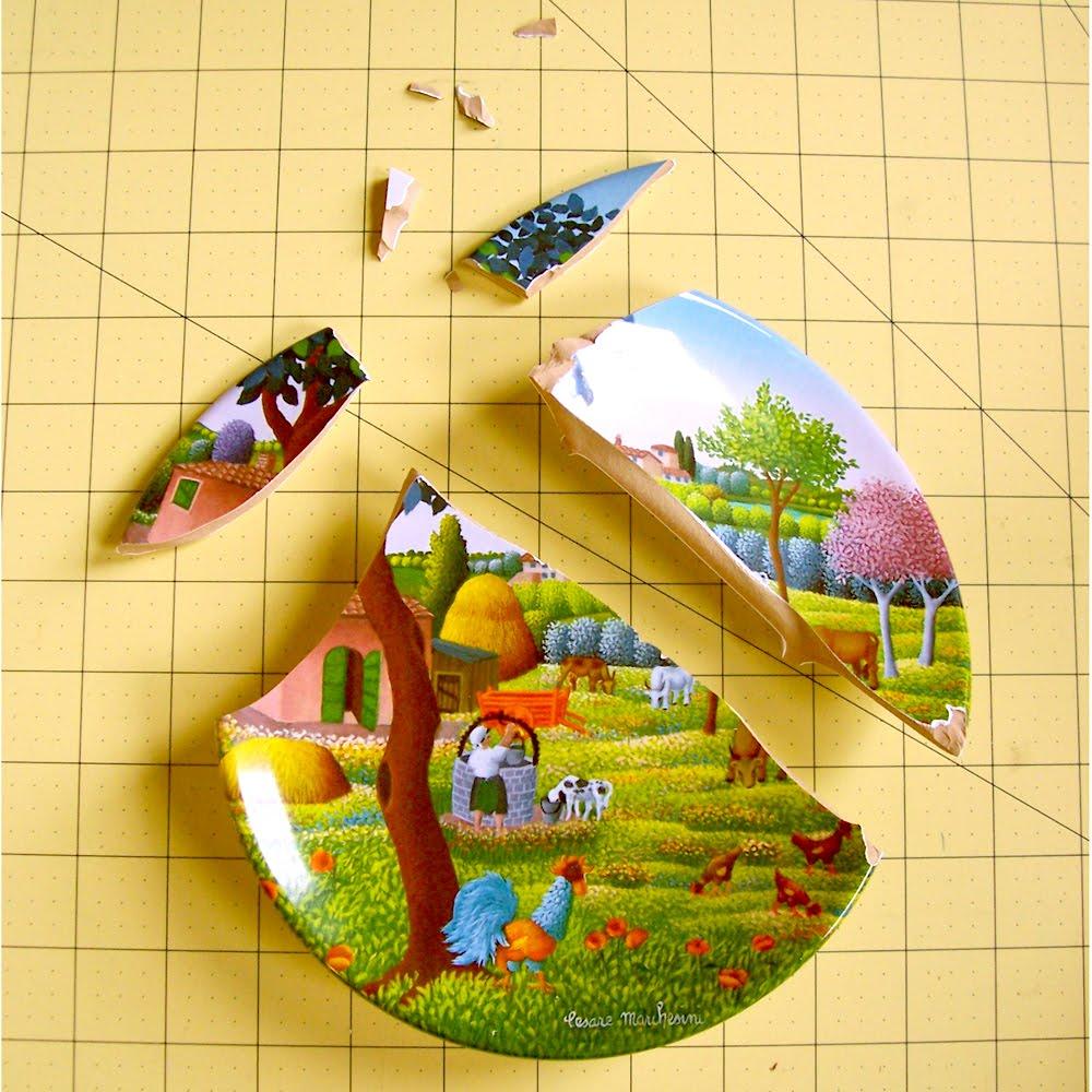 Mill Girl Ceramic Repair Demonstration Decorative Plate