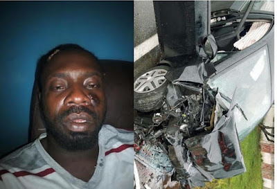 Veteran Nigerian singer, Sky B involves in a ghastly accident