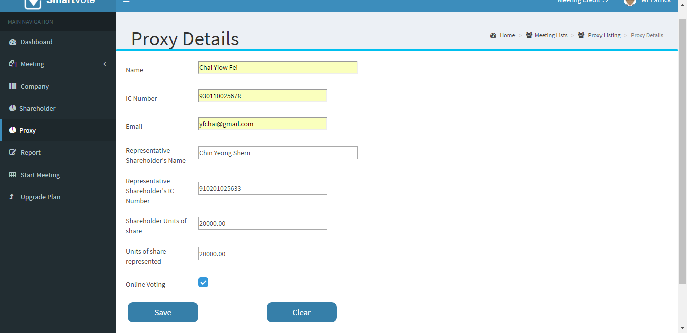 Getting started with Smart Vote Web Application (Create