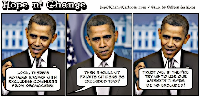 cartoon, computer, crash, government, healthcare.gov, hope and change, hope n' change, liberals, national parks, obama, obama jokes, obamacare, shutdown, stilton jarlsberg,
