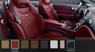 Nội thất Mercedes SL 400 2019 màu Đỏ Classic X17