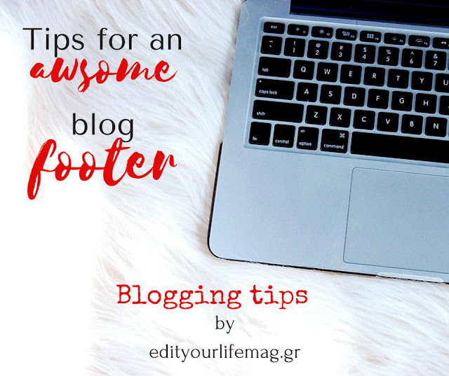 Tips for an awsome blog footer