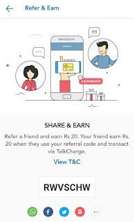 Tricksrewards.blogspot.com TalkCharge refer and earn