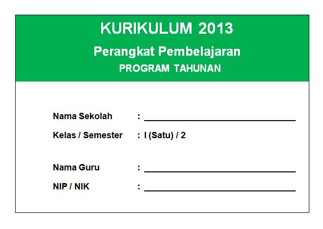 Prota PJOK Kelas 1 Semester 2 Kurikulum 2013 Revisi Terbaru