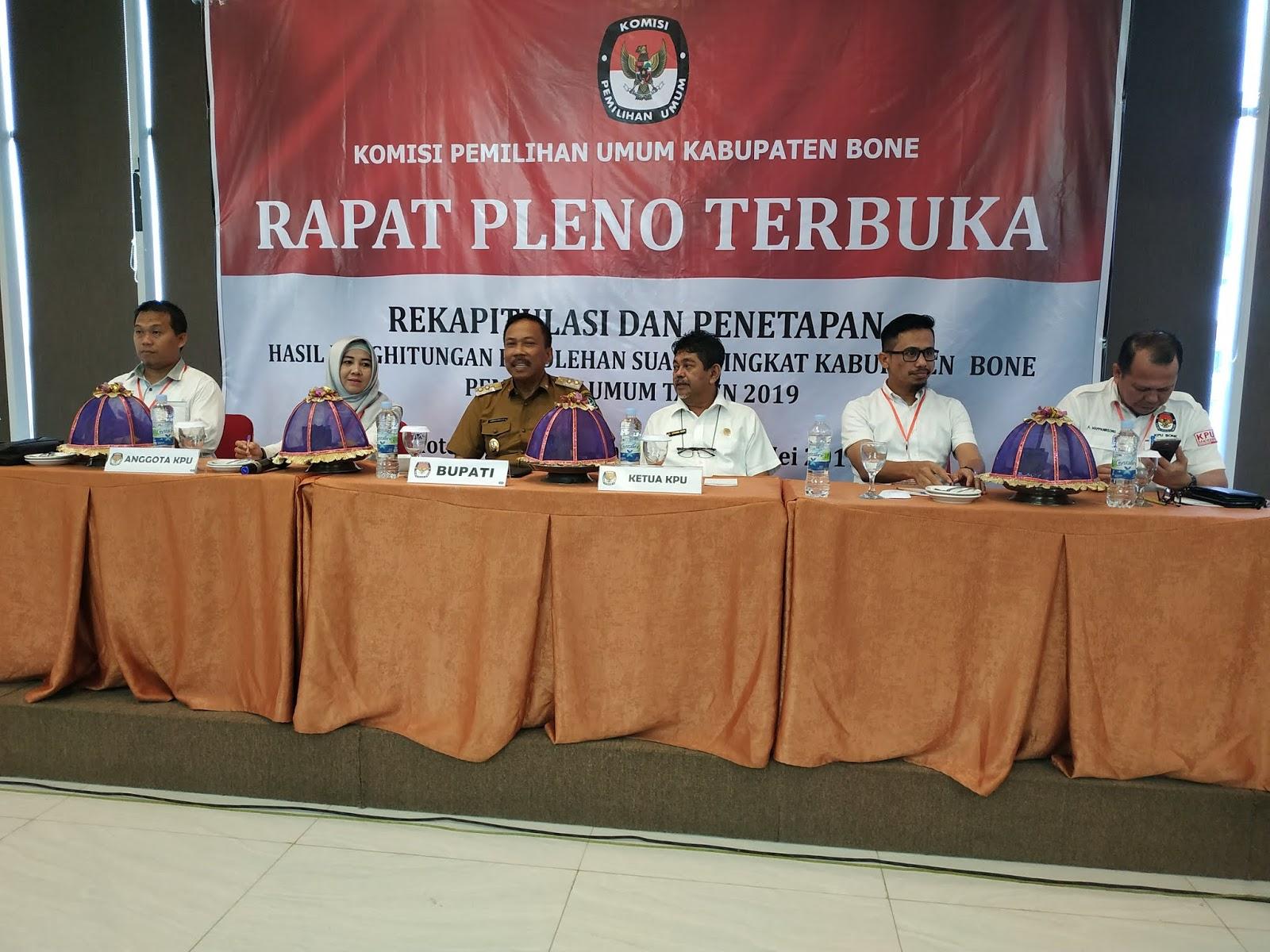 KPU Bone Gelar Rapat Pleno Terbuka