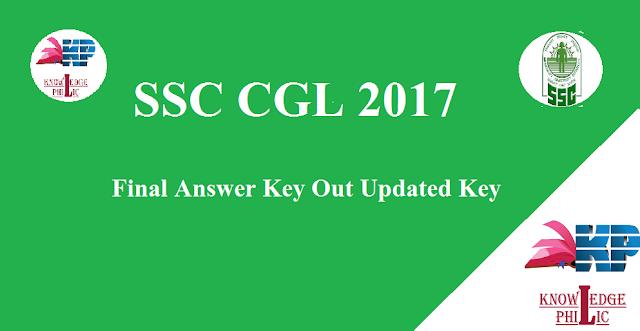 SSC CGL 2017 Final Answer Key Out   Updated Answer Key