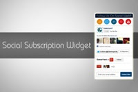 Spiky Social Subscription Widget