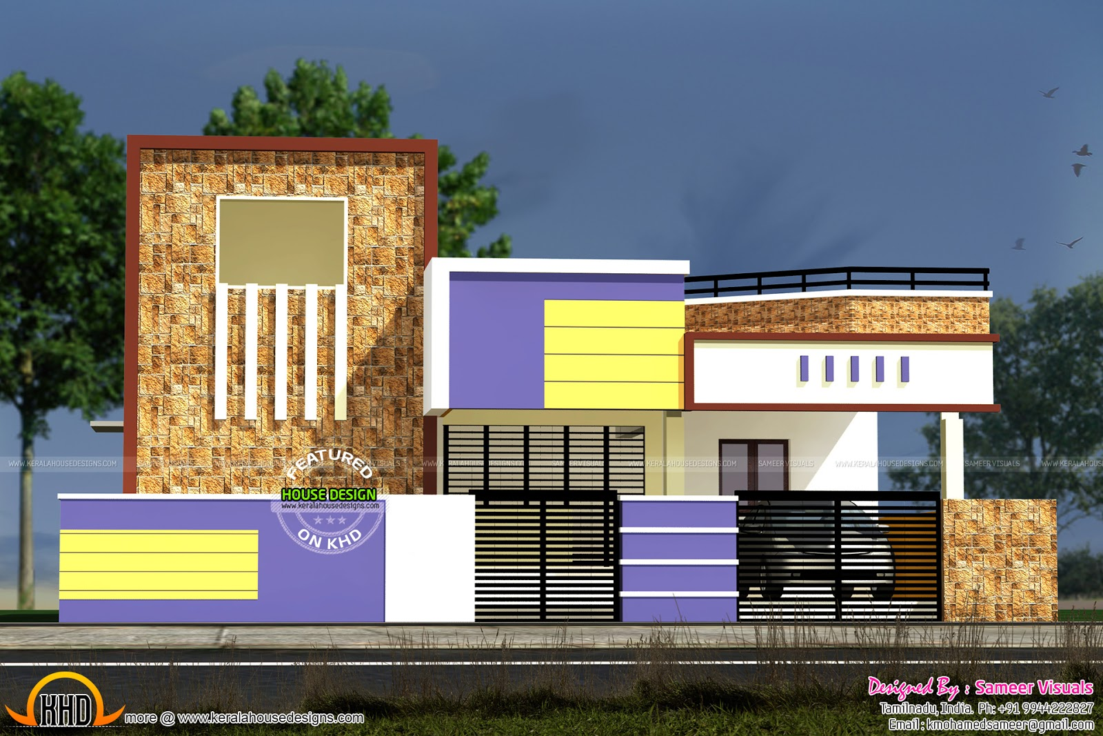 Kerala home design and floor plans low budget south for South indian small house designs