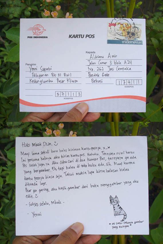 Contoh Kartu Pos Dalam Bahasa Indonesia