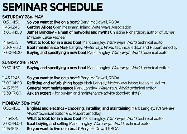 crick boat show waterways world seminars 2016