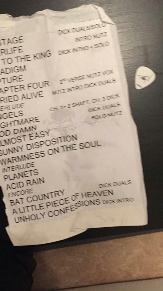 Avenged Sevenfold Frankfurt Setlist