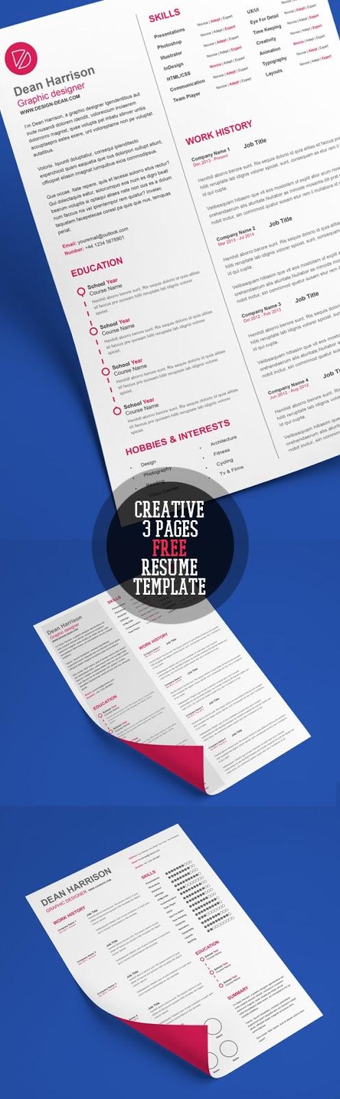 Template Resume / CV Terbaru dan Terbaik 2017 - Creative A4 Free CV/Resume Template
