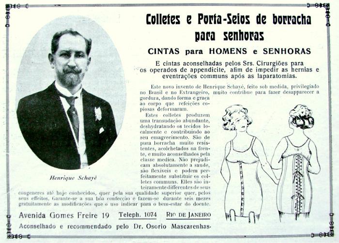 Propaganda antiga que promovia produto voltado para senhoras e senhores para modelar o corpo
