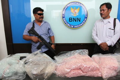 Meth bust by Indonesia's National Narcotics Agency (BNN)