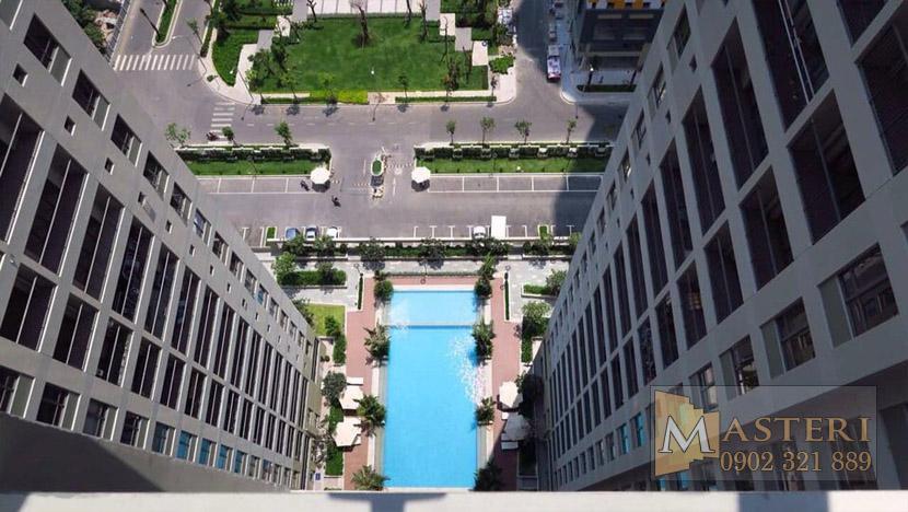 Masteri Thảo Điền căn hộ cho thuê - view hồ bơi