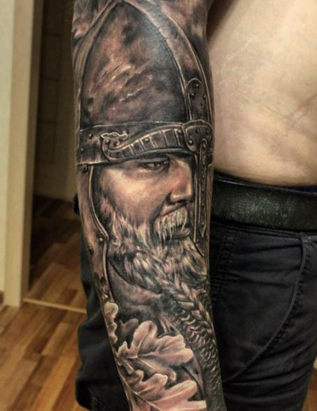6b9c9ae5eece3 80+ Traditional Viking Tattoos For Men With Meanings (2019) | Tattoo ...