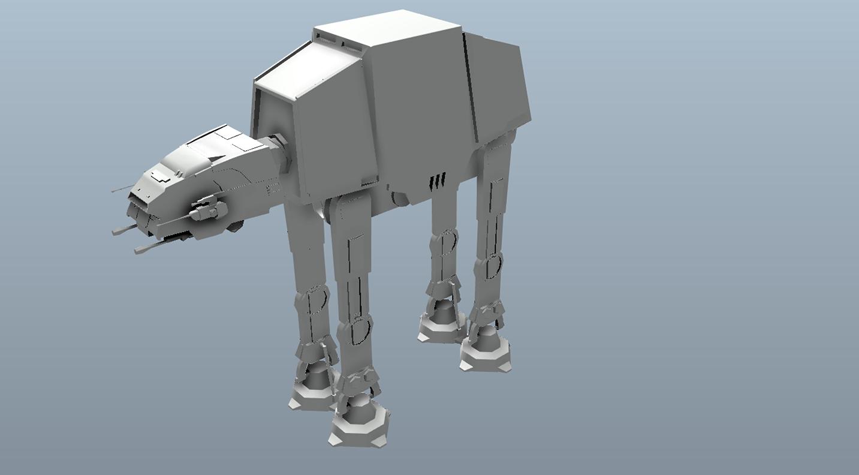 Big Star Wars OBJ Giveaway - AT-AT 3d model