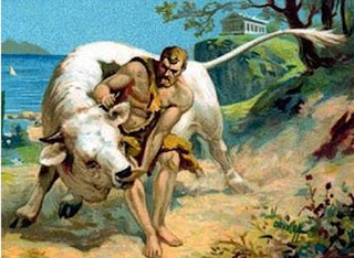 mito de hercules heracles el toro de creta