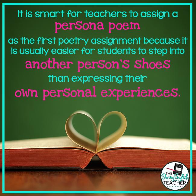 Teaching Persona Poetry   The Daring English Teacher