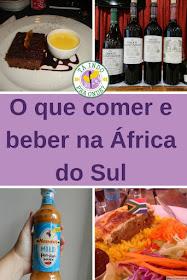 Comidas e bebidas típicas da África do Sul
