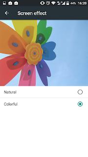 ZTE Blade S7 - Pengaturan warna layar