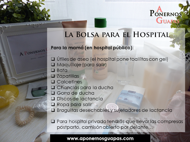 La bolsa para el hospital (mamá) para el parto