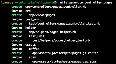 Rails generating a controller