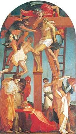 Deposition, fresco by Rosso Fiorentino/psartworks.in