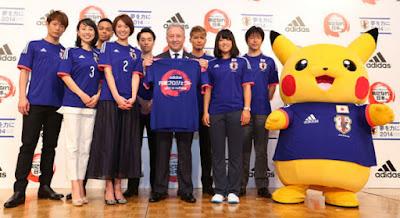 Pikachu merupakan Maskot untuk FIFA World Cup 2014 di Jepang.