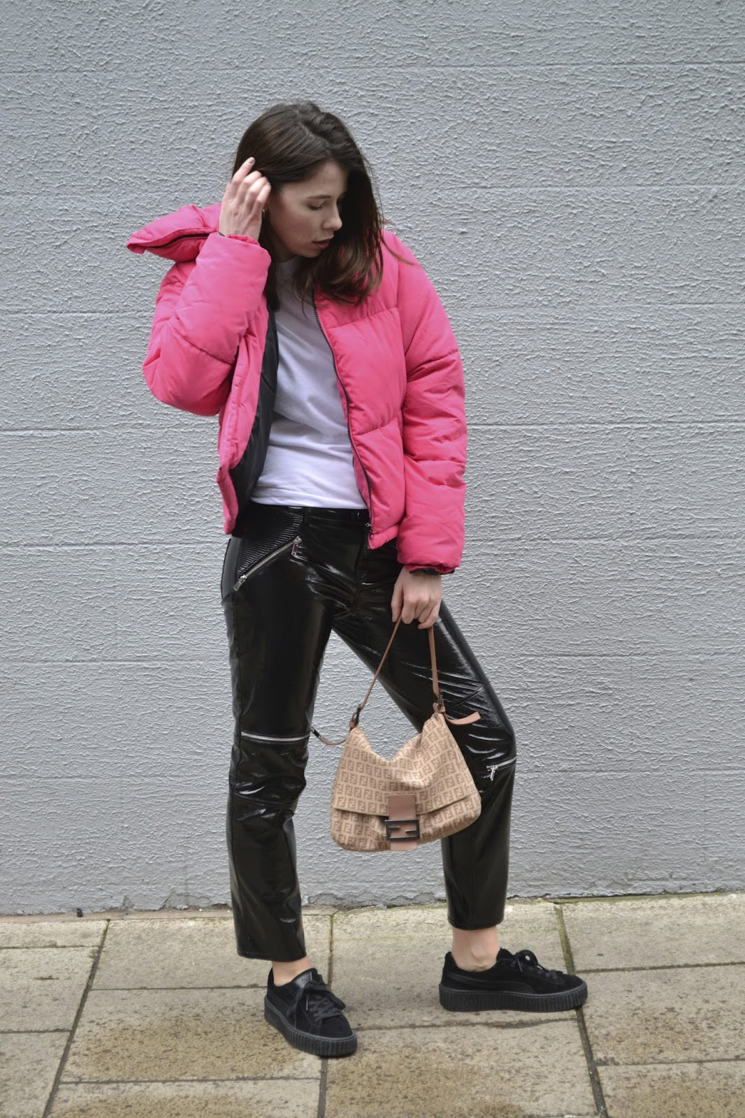 How to style Pink ft New Look, PVC and Puma