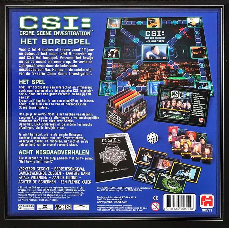 Super HET verzameloord: CSI: HET BORDSPEL WX-99