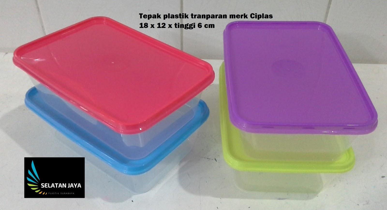 Tepak plastik murah transparan merk ciplas tutup merah biru kuning ungu 81e39437d1