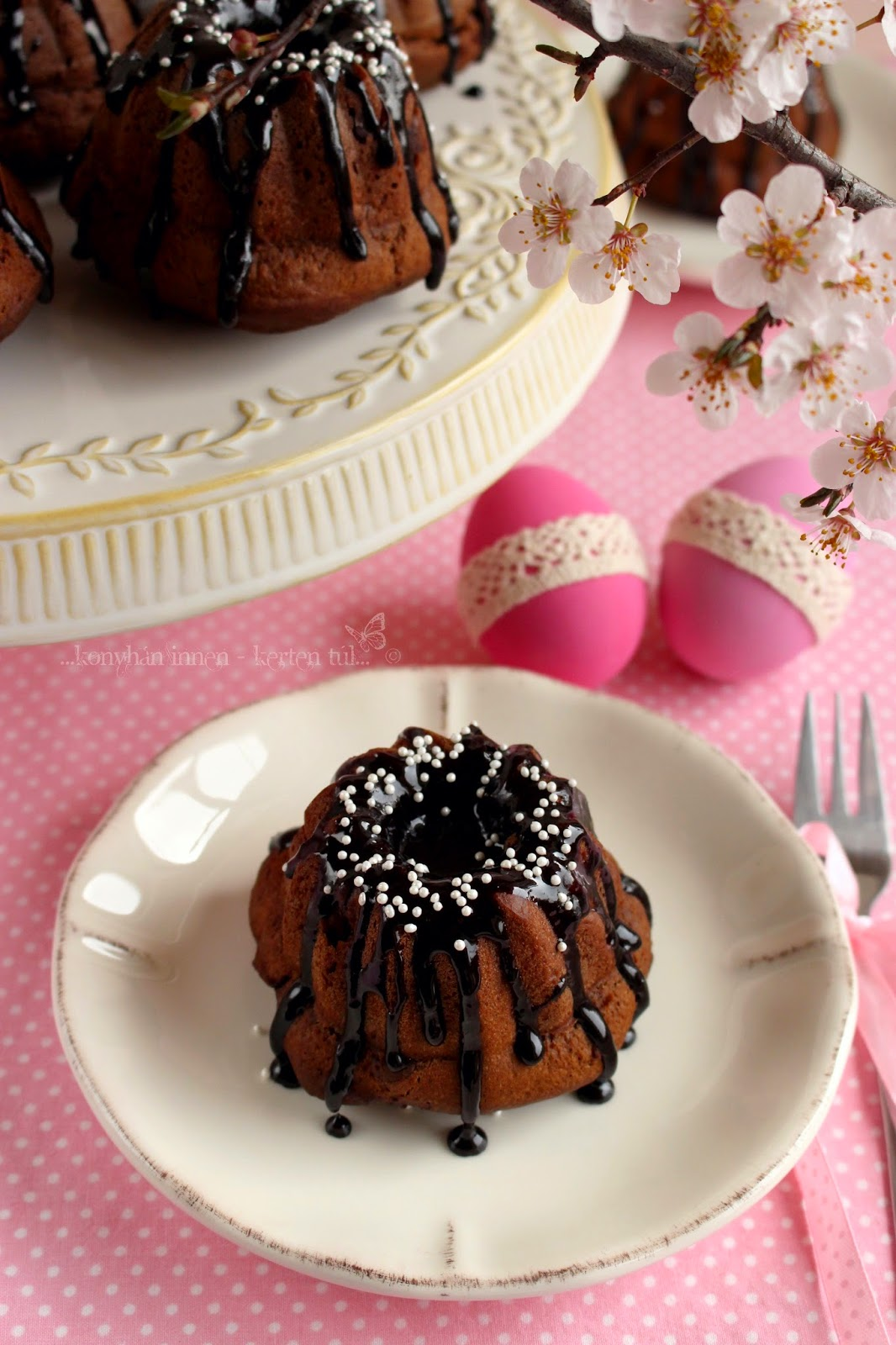 Csokoládés mini kuglóf