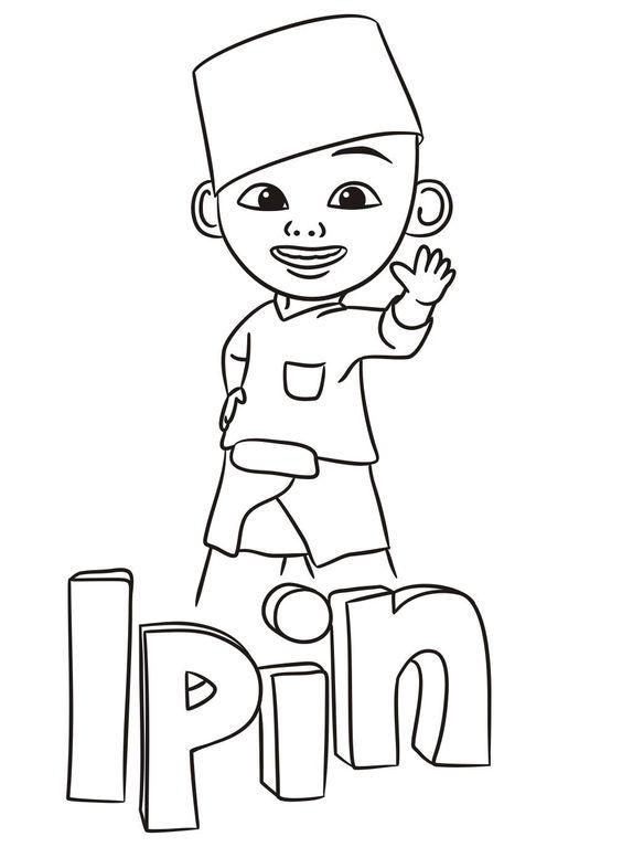 Tranh cho bé tô màu Ipin